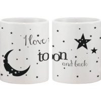 I Love You to the Moon and Back Matching Couple Mugs (Set)