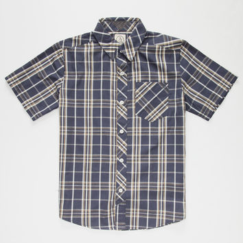 Volcom Weirdoh Boys Shirt Navy  In Sizes