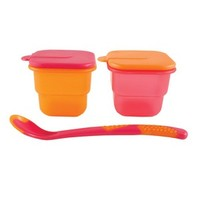 Nurtria 2 Storage Bowls & Spoon | Affordable Infant Clothing