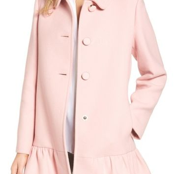 kate spade new york twill peacoat | Nordstrom