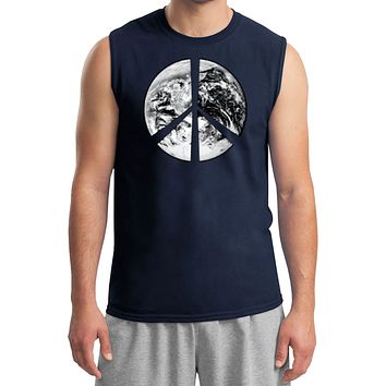 Buy Cool Shirts Peace T-shirt Earth Satellite Symbol Muscle Tee