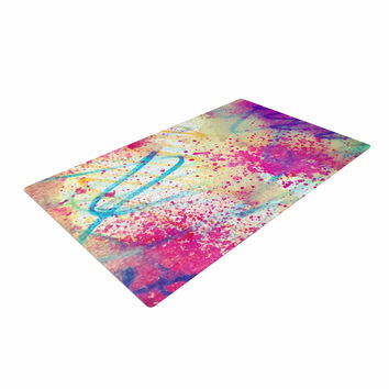 "Liz Perez ""RAINBOW"" Purple Multicolor Woven Area Rug"