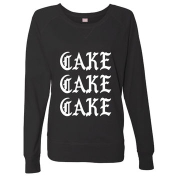 Cake Cake Cake Gothic Black and White Soft Comfortable Pullover Sweatshirt