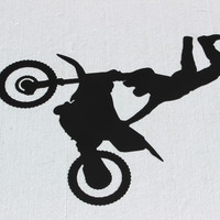 Dirtbike Freestyle Seat Grab Motocross Sign Metal Wall Accent
