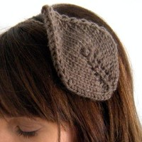 Headband of the Leafy Kind Taupe by KittyDune on Etsy
