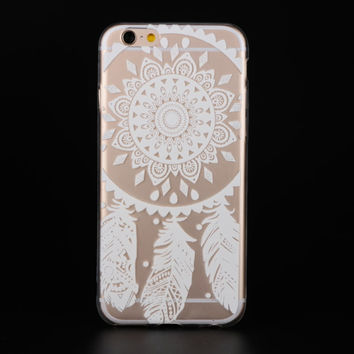 "Ultra Soft TPU Transparent Dream Catcher Pattern Design Phone Case Cover Shell For iPhone 6 6s 4.7"" Inch"