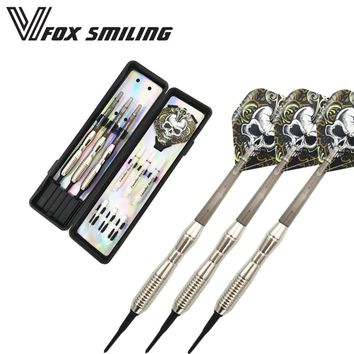 Electronic Soft Tip Darts 18g 15cm Darts With Nylon Alloy Shaft With Brown Skull Pattern