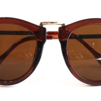 Brown with Gold Arrows Sunglasses