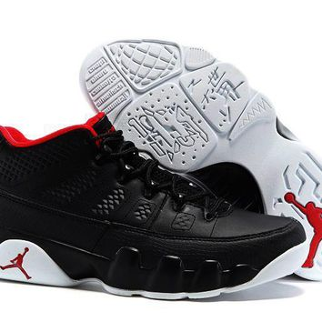Nike Air Jordan 9 Retro Low Black/White/Red AJ9 Cheap Sale JD 9 Discount Men Sports B