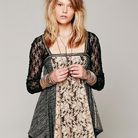 Free People Lace Inset Sequin Tunic