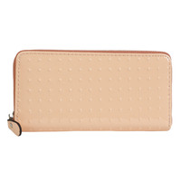 Patent Dotted Pastel Wallet - Peach