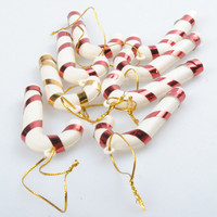 10pcs Christmas Candy Cane Ornaments Festival Party Xmas Tree Hanging Decoration