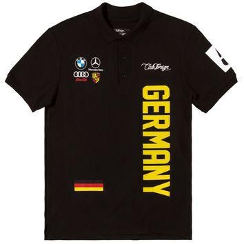 Club Foreign German Series Men Polo Shirt Black