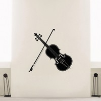 Wall Decal Vinyl Sticker Music Violin Decor Sb396