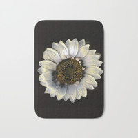 Sunflower Botanical Art Bath Mat by Captain Andromeda