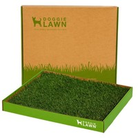 DoggieLawn Disposable Dog Potty - REAL Grass - MEDIUM 24x21