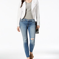 Hudson Jeans Tally Mid-Rise Skinny Cropped Jeans | macys.com