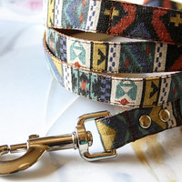 Sand Washed Turquoise Native American Dog Leash 4ft