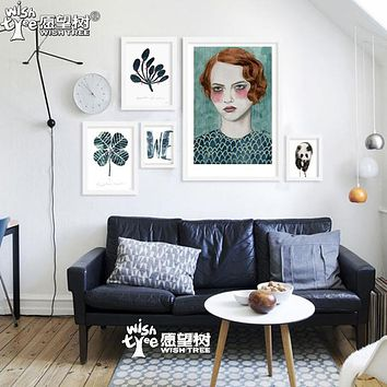 Nordic Decoration Panda Retro Wall Art Canvas Painting Cadre Decoratif Wall Pictures For Living Room Cuadros No Poster Frame