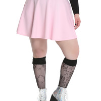 Pink Circle Skirt Plus Size