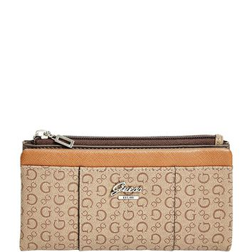 GUESS Women's Flowing Leopard Fold-Over Wallet Bag