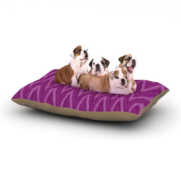 "Amanda Lane ""Plum Purple Chevron"" Lavender Fuschia Dog Bed"