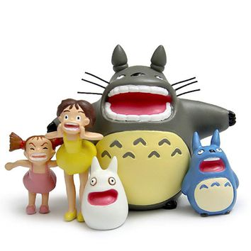 My Neighbor Totoro Action Figures Shouting Cute Kawaii 5 Pieces