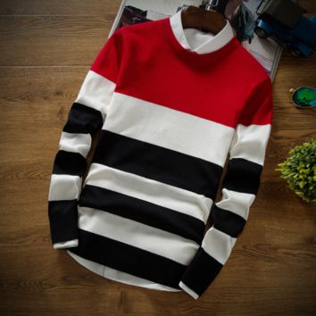 Contemporary Horizontal-Striped Sweater