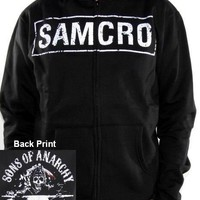 Sons Of Anarchy Hoodie - White Samcro Zip