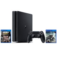PS4 1TB Slim Console Bundle with Destiny 2 & Call of Duty WWII Video Games