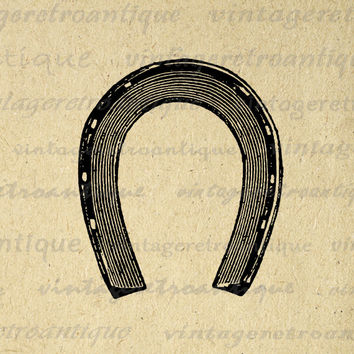 Printable Horseshoe Image Download Digital Graphic Illustration Antique Clip Art for Transfers Making Prints etc HQ 300dpi No.2281