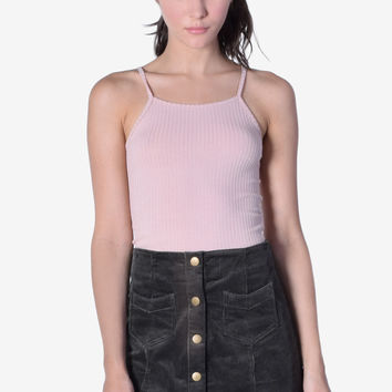 Ribbed Out Mini Cami Tank