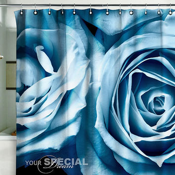 Bath Shower Curtain rose roses flower flowers garde