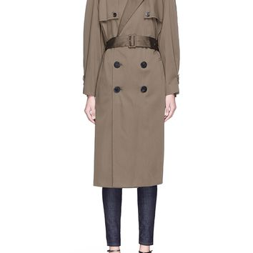 Neil Barrett | Convertible sleeve satin trench coat | Lane Crawford - Shop Designer Brands Online
