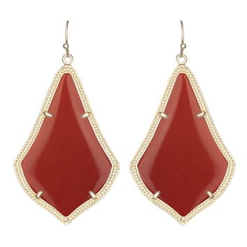 Kendra Scott Alexandra Earrings in Dark Red