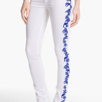 Rebecca Minkoff 'RM' Embroidered Skinny Stretch Jeans | Nordstrom