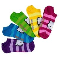 Hello Kitty - Striped Women's No-Show Socks 5-Pack