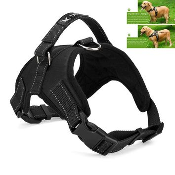 Large Dog Harness Padded Chest Strap Heavy Duty with Handle Comfortable for Labrador Golden Retriever Samoyed Husky Dogs