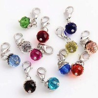 ON SALE - Dangling Bead Accent Crystals for Story of My Life Charm Lockets 5mm - 11 Colors to Choose!!