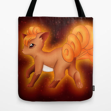 Pokemon - Vulpix Tote Bag by Susaleena