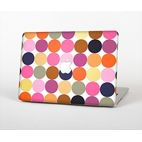 """The Solid Pink & Blue Colored Polka Dots V2 Skin Set for the Apple MacBook Air 13"""""""