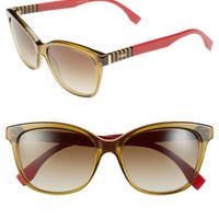 Women's Fendi 55mm Retro Sunglasses