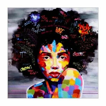 HD Print Abstract Modern African Women Portrait Canvas