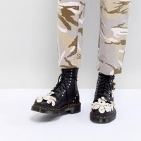Dr Martens 3D Flower Lace Up Boots at asos.com