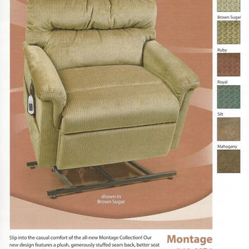 Ultracomfort Montage Power Lift Chair Recliner 500 pound limit, UC542-ME6