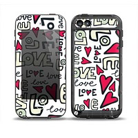 The Love and Hearts Doodle Pattern Skin for the iPod Touch 5th Generation frē LifeProof Case