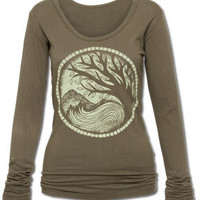 NEW! Earth Medallion Organic Long Sleeve: Soul-Flower Online Store
