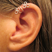 No Piercing Sterling Silver  Helix Cuff Ear by ArianrhodWolfchild