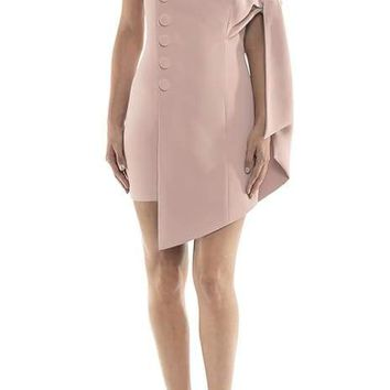 Grace Pink One Shoulder Mini Dress
