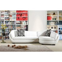 VIG Divani Casa 3010 - Modern Bonded Leather Sectional Sofa In White